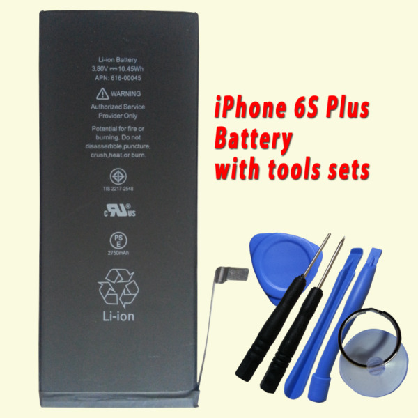 New Battery for Apple iPhone 6S Plus 616-00045 2750mAh with free tools sets