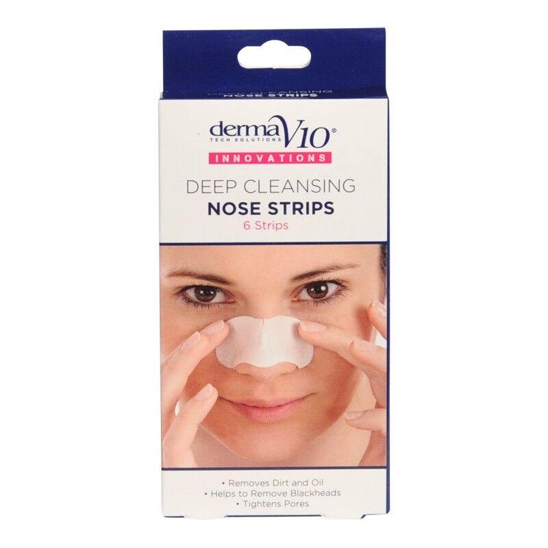 Derma V10 6 Deep Cleansing Nose Strips Blackheadfacialskincaredirtoilnew