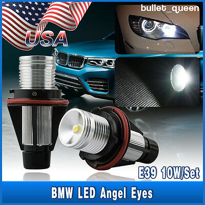 Light Bulb Rings - 2X BMW 5W ANGEL EYES WHITE LED HALO RING LIGHT BULB E39 E53 E60 E63 E64 E65 E66