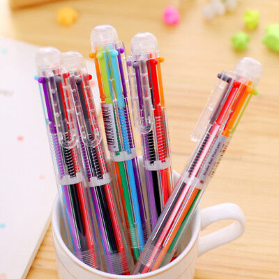 New Colorful Pen Multi-color School Stationery Novelty Office Ballpoint Gifts (Multi Color Pen)