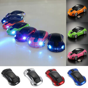 LED-3d-2-4g-G-coche-forma-Inalambrico-Raton-optico-Ratones-para-portatil-PC