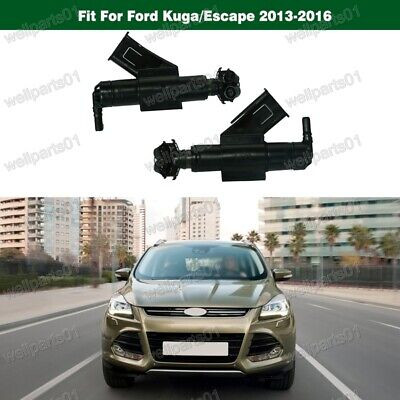 1Pair Headlight Washer Jet Nozzle LH RH for Ford Kuga 2013-2016