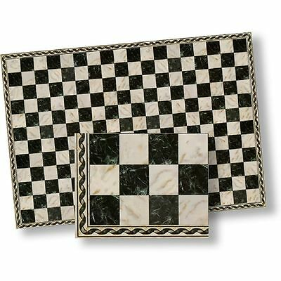 Dollhouse Flooring Black & White Faux Marble Floor Tile