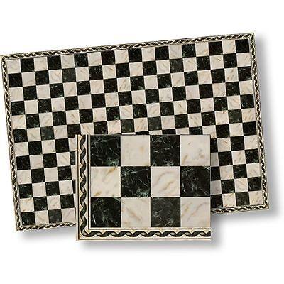 Dollhouse Flooring Black & White Faux Marble Floor Tile