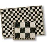 Dollhouse Flooring Black  and White Faux Marble Floor Tile