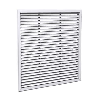 Price 630 Aluminum Louvered Supply Grille 22x22 White Case Of 10 Free Shipping