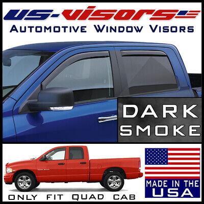 US-Visors Window Vent Visors In-Channel fit 2002-2008 Dodge Ram 1500 Quad Cab