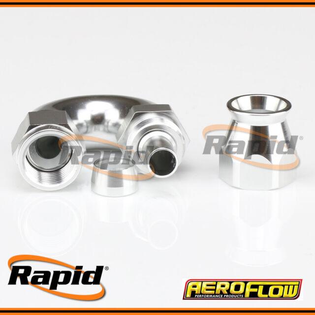 Aeroflow 6AN 570 Series Silver 180º Hose End Suits Teflon Hose AF576-06DS
