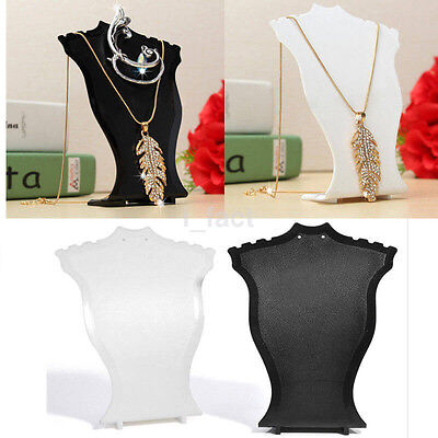 Plastic Pendant Necklace Bust Jewelry Display Holder Shop Shelf Exhibitor Hot US