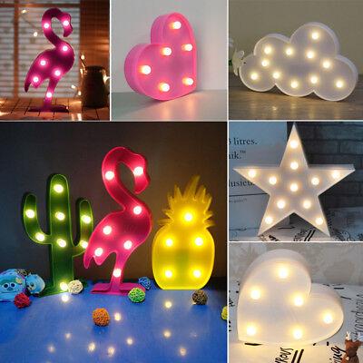 LED Dekoleuchte Stimmungslicht Einhorn Flamingo Herz Bar Kinderzimmer Wanddekor