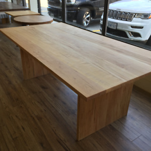 Wormy maple dining table, custom made, seats 6