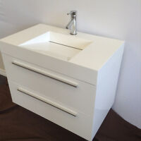 Bathroom vanity Italian design wall-mounted 50% off TU-800