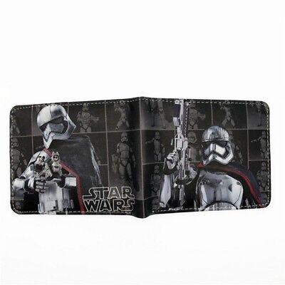 Satr Wars Captain Phasma Star VII Trooper Bifold Wallet PU Cards Notes