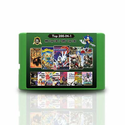 200 in 1 Multi Game Cartridge 100 Sega Mega Drive + 100...