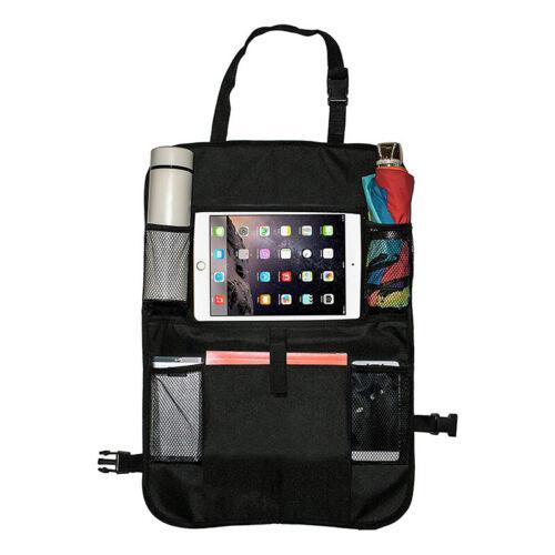Car Back Seat Organizer Protector Tablet Holder Travel Pocke