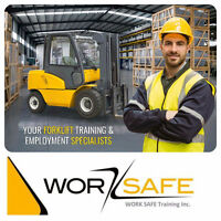 Forklift Training + Certification (Licence) + Jobs from only $75