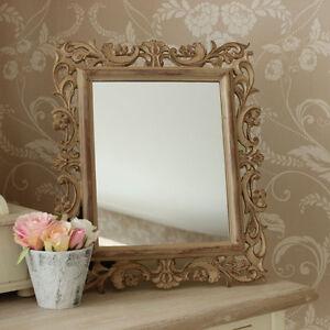 Incisione legno stile specchio ornato shabby chic rococo toletta vintage ebay - Specchio shabby chic ...