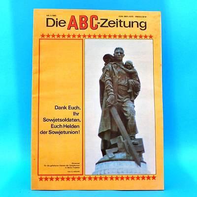 DDR ABC-Zeitung 1-1985 Zeitschrift für Junge Pioniere Jähn Rostock Eisenhüttenst