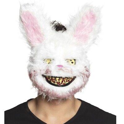 gruselige creepy Hasen Bunny Maske blutrünstige Tiermaske Halloween Kostüm - Gruselige Kostüm