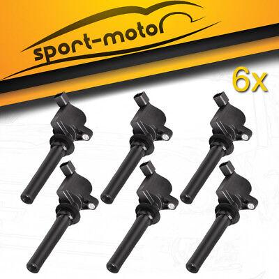 Set of 6 Ignition Coil on Plug Coils Pack For Mazda Mercury Ford 3.0L V6 DG513