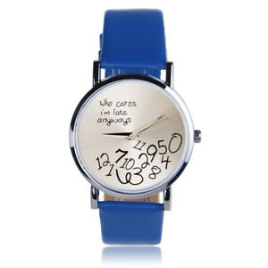 New Women's/Girls Watch-Black Strap-Scrambled Numbers