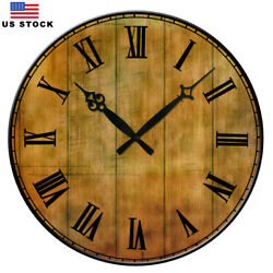 15 Large  Retro Rustic Living Room Wall Clocks Home Room Decor Antique Numbers