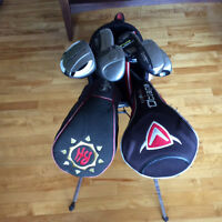 Left handed Golf clubs and Callaway Bag for sale