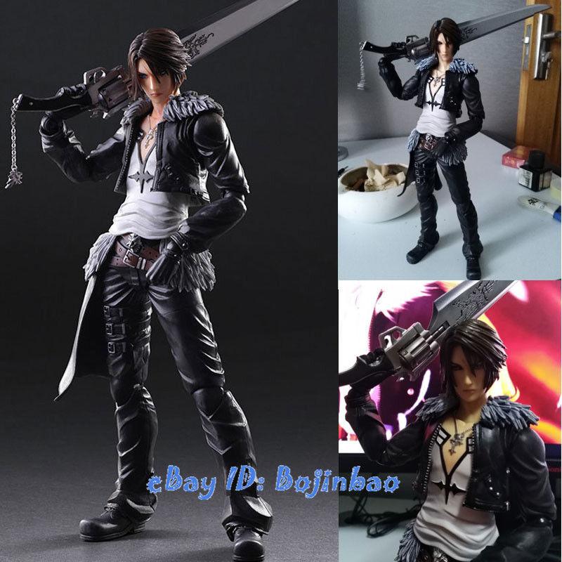 Details About Final Fantasy Squall Leonhart Action Figure Play Arts Kai Model No Box Ff8 Gifts