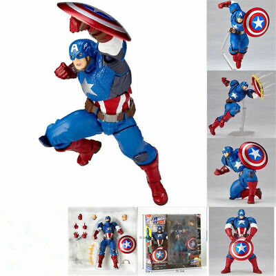 Kaiyodo Revoltech Amazing Yamaguchi Captain America Action Figure Toy hot Box A
