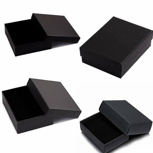 Small Black Jewellery Gift Boxes Brooch Ring Earring ...