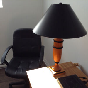Computer Chair and Table Lamp