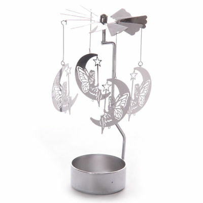 Moonlight Fairy Candle Holder (NEW METAL FAIRY & MOON TEA LIGHT HOLDER SPINNING CANDLE DECORATION SPIN19)