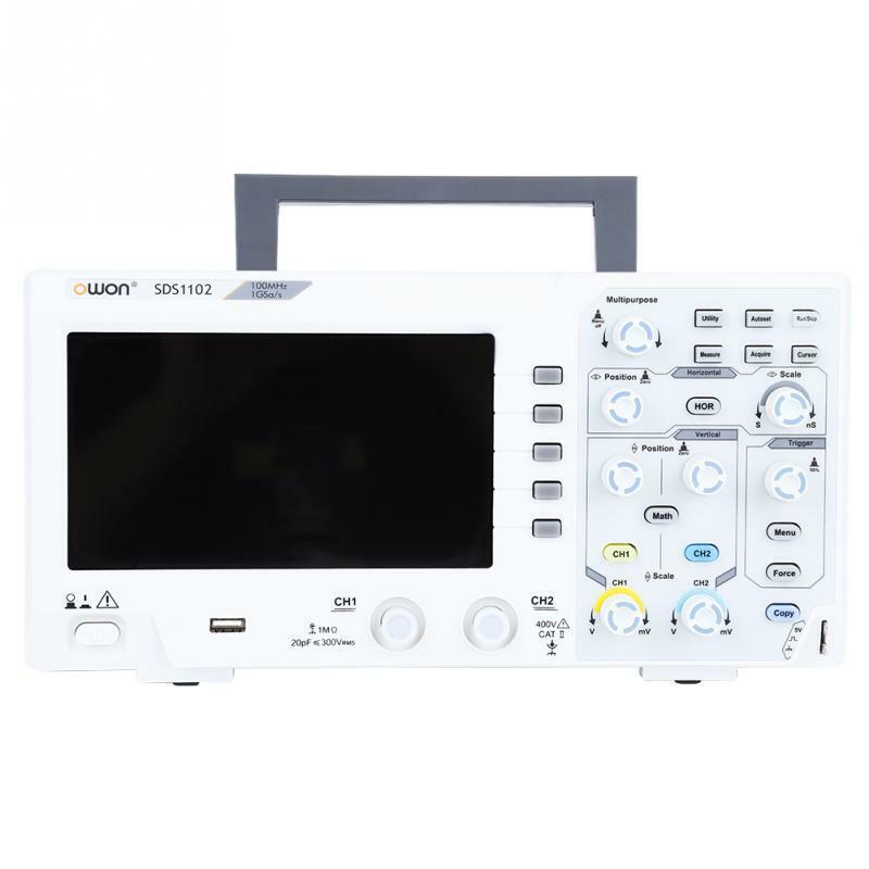 OWON SDS1102 Oscilloscope 2-Channel Digital Oscilloscopes 1GS/s 100MHZ Bandwidth