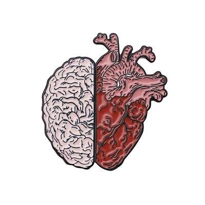 Cartoon Creative Brain With Heart Series Enamel Brooch Badges Lapel Pins -