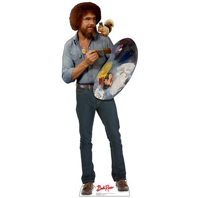 Cardboard Cutout (BOB ROSS & SQUIRREL The Joy of Painting CARDBOARD CUTOUT Standup Standee)