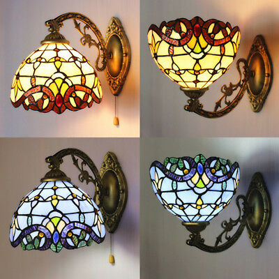 Mission Style Wall - Mission Handcrafts Tiffany Style Stained Glass Wall Sconce Lamp Lighting Fixture