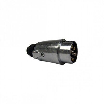Anhänger Beleuchtung PKW KFZ Stecker 7 polig Anhängerstecker metall ()