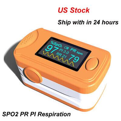 Cefda Pulse Oximeter Pr Pi Respiration Rate Monitoraudio Alarmpulse Sound