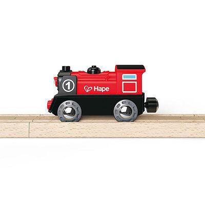 Hape E3703 Batteriebetriebene Lokomotive Nr. 1 für Holzeisenbahn NEU! #