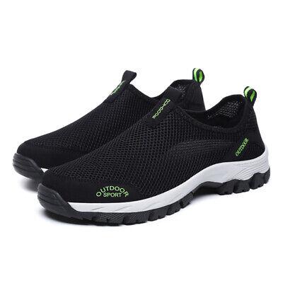 Mesh Men Sneakers - Men's Mesh Aqua Water Shoes Outdoor Quick Dry Slip on Sneakers Beach Pool Surf