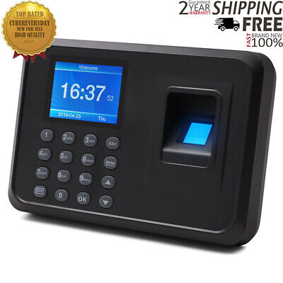 F01 Biometric Fingerprint Time Clock Employee 2.4 Screen Software-free Dt55