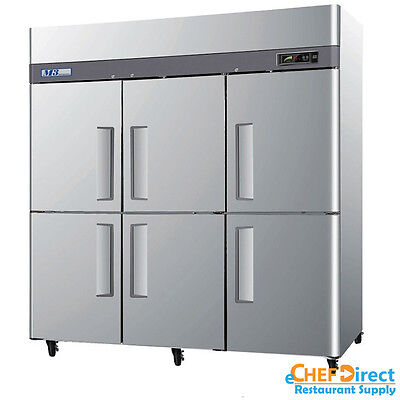 Turbo Air M3f72-6-n 78 Six Half Door Reach-in Freezer