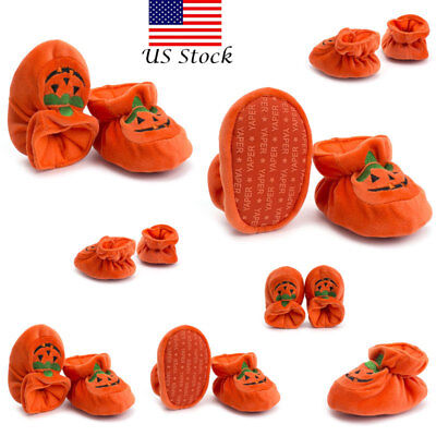Fashion Halloween Pumpkin Infant Toddler Baby Boy Girl Soft Sole Crib Shoes - Halloween Toddlers