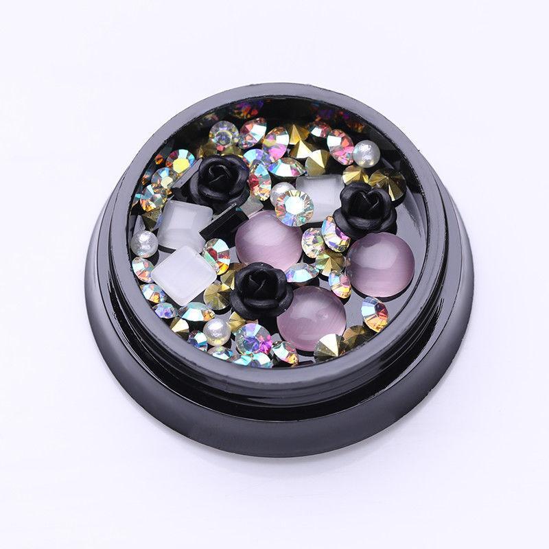 1Box Black Rose Beads