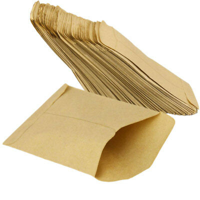 100 pcs Kraft Paper Cookie Candy Package Gift Bags Cellophane Party Birthday