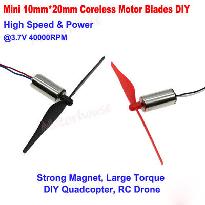 10mm20mm Dc3v 3.7v 40000rpm High Speed Mini Big Coreless Motor Diy Rc Drone Toy