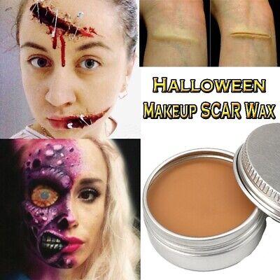 Halloween Makeup Scars (Fake Scar Wax Halloween Modeling Wound Fake Scar Make-Up Putty Skin Wax)