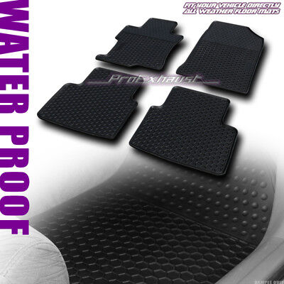 *SALE BLK ALL WEATHER FRONT+REAR FLOOR MAT CARPET 4P FITs 2008-2012 ACCORD - Accord Rear Floor Mat