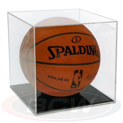BallQube Grandstand Basketball Display Case - 98% UV Protection - Black Base