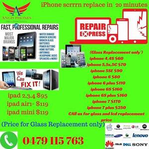 Express fix ( cheap repair form shop )iPhone 6 $80 glass replace Sefton Park Port Adelaide Area Preview